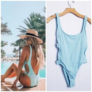 l*Space Mayra Ribbed One-Piece Swimsuit, NWT